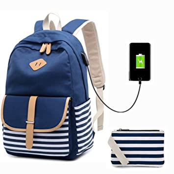 Amazon.com: meisohua lindo ligero mochila escolar bolsas de ...