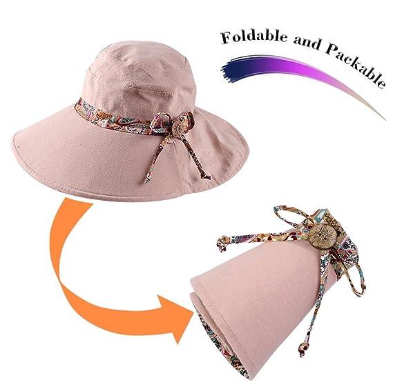 HindaWi Sombreros de Sol para Mujer 2aa455b8fc7
