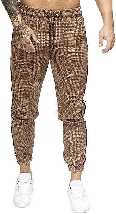JiaMeng-ZI Pantalones de Sueltos Harén Hombre, Algodón y Poliéster ...