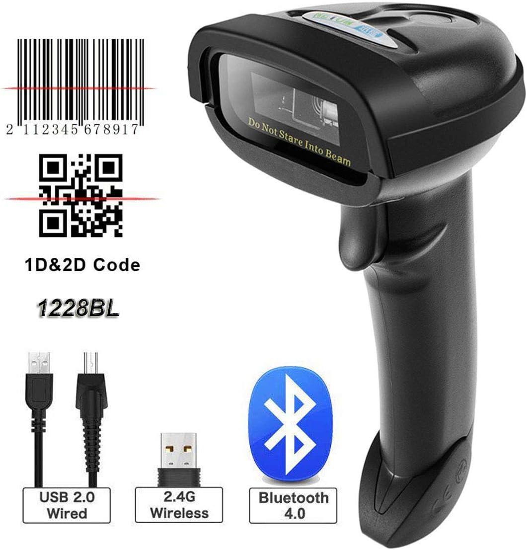 NETUM Bluetooth QR 2D Barcode Scanner Handheld USB Wireless 1D 2D bar Codes for