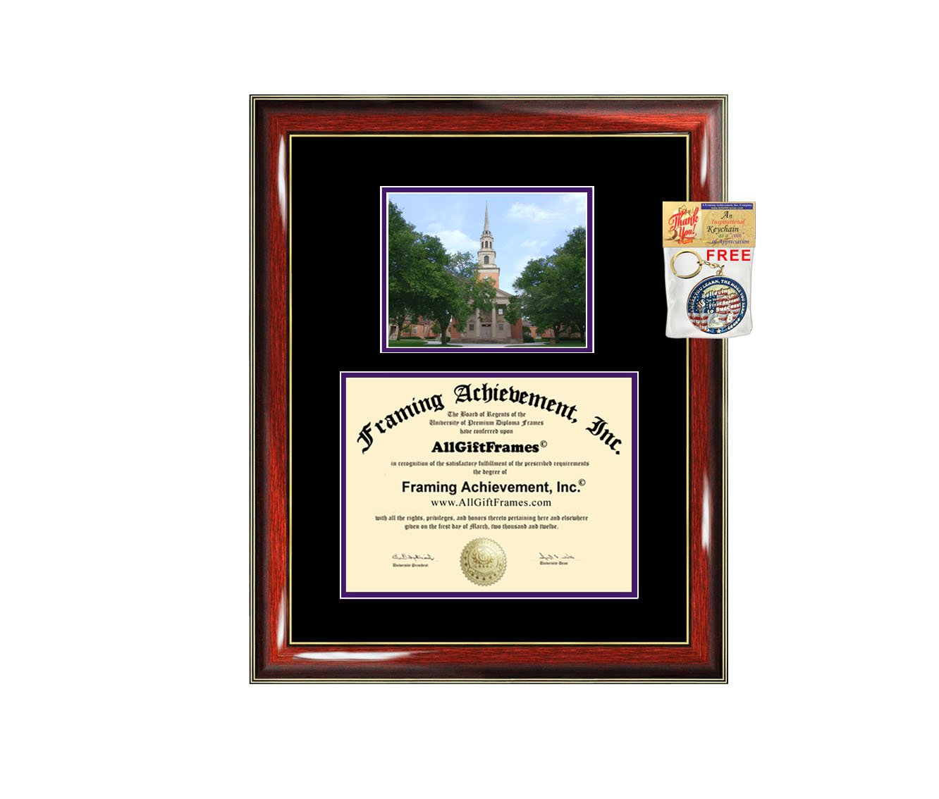 Texas Christian University Diploma Frame TCU Graduation College Degree Campus Photo Double Mat Document Holder Certificate Plaque Graduate Gift by AllGiftFrames