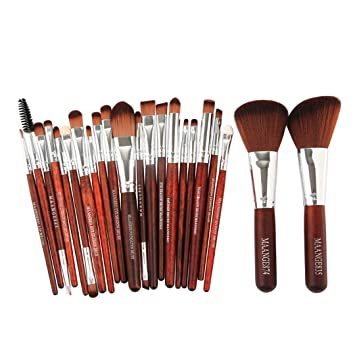 Amazon.com: 22/25Pcs Cosmetic Makeup Brush Blusher Eye Shadow ...