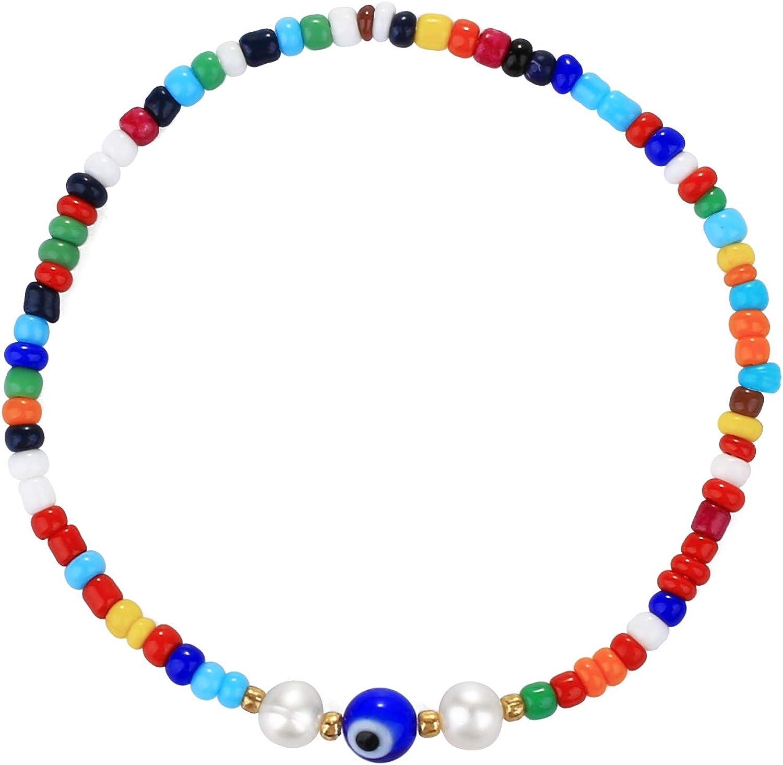 adjustable bracelets rainbow jewelry stretch cord bracelets rainbow bracelet Multi Colored Rainbow Stretchy Seed bead bracelet