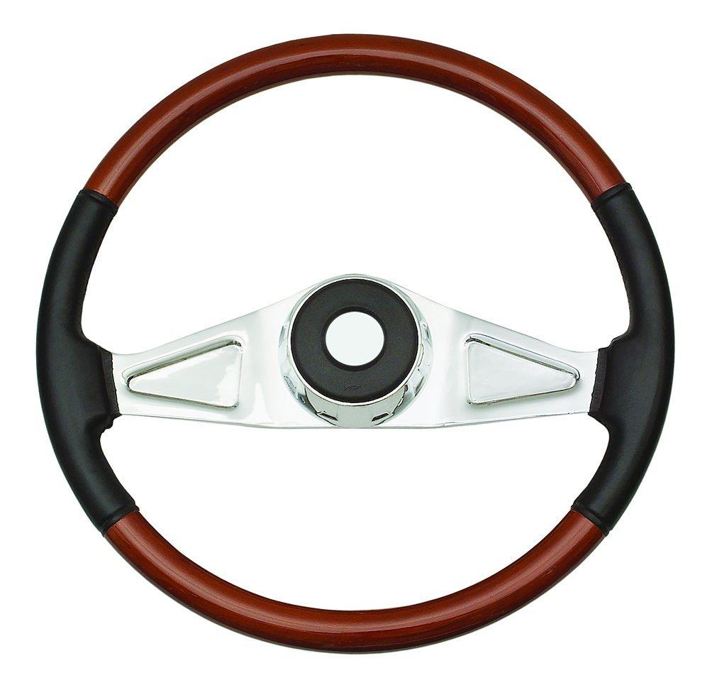 Woody's WP-SWPB9801L Rosewood Chrome Truck Steering Wheel (Beautiful African Hardwood) Woody' s