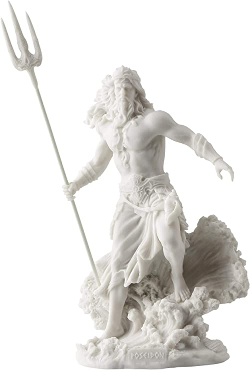 Poseidon Greek God Of The Sea With Trident Statue