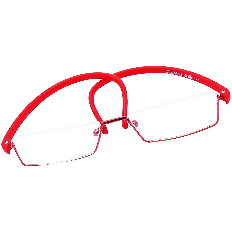 Diottrie +2.5 Montatura Minimal in Acciaio Rosso Occhiali da Lettura Leggeri e Flessibili da Uomo e da Donna IN OMAGGIO Custodia