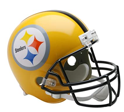 d4032503 Image Unavailable. Image not available for. Color: Riddell Pittsburgh  Steelers 75th Anniversary Deluxe Replica Helmet