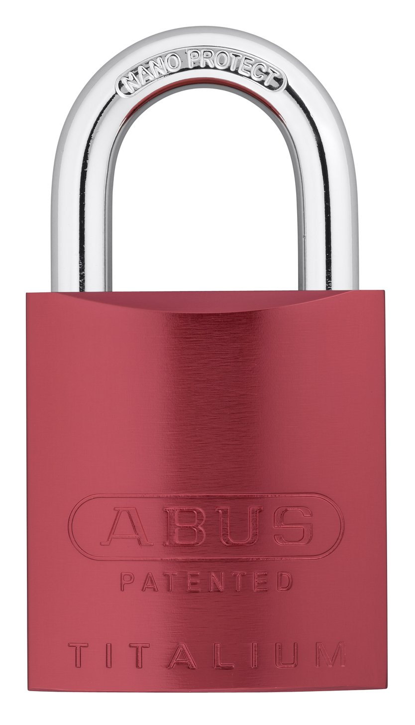 ABUS 83AL/45-300 Aluminum Padlock Red Keyed Different