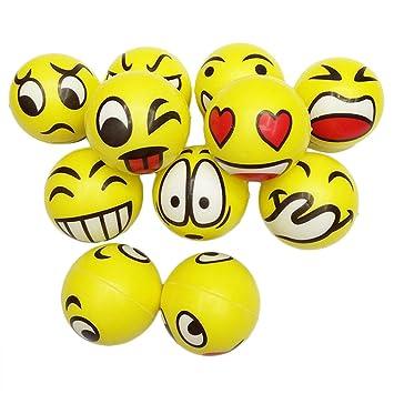 OuYou Bola Pelota Antiestrés Amarilla Expresión Facial Divertido ...
