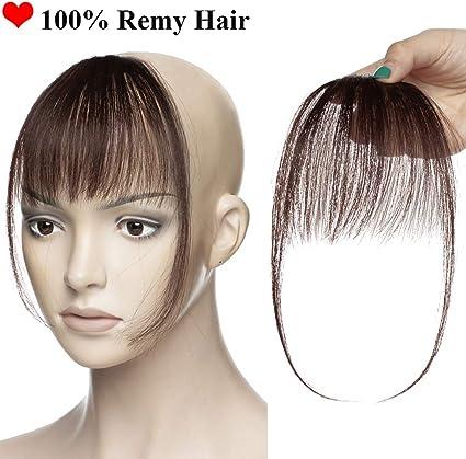 Flequillo Postizo Pelo Natural Clip 100% Remy Extensiones de ...