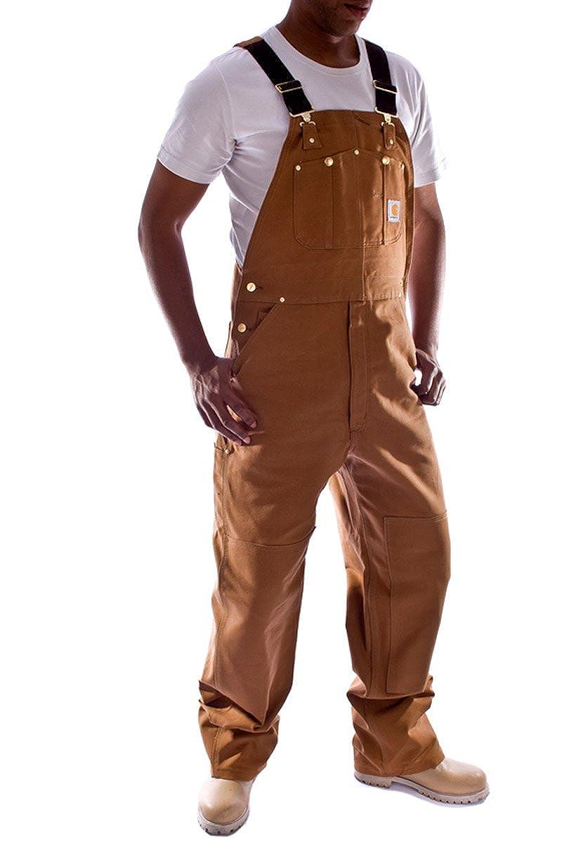 Carhartt Denim Dungarees Brown bib overall mens work dungaree mens dungaree R01Brown