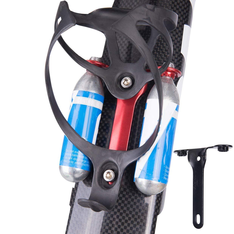MXECO CO2 Cartucho Soporte Soporte Hold Control Blast CO2 Cartuchos para Bicicleta de Carretera Botella de Agua Jaula Montaje Bicicleta Parte