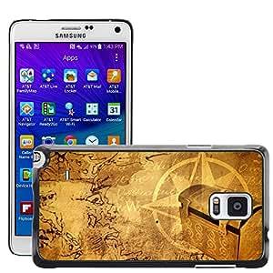 Print Motif Coque de protection Case Cover // V00001969 Antiguo mapa del tesoro // Samsung Galaxy Note 4 IV