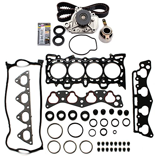 ECCPP Timing Belt Water Pump and Head Gasket Kit Fit for 1996-2000 Honda Civic 1.6L SOHC 97 D16Y5 D16Y7 D16Y8