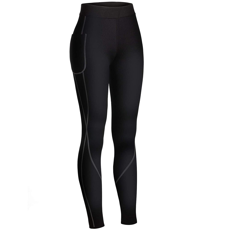 c5dd222b83 Rolewpy Women Neoprene Sauna Slimming Pants Weight Loss Hot Thermo Sweat  Body Shaper Capri for Fat ...