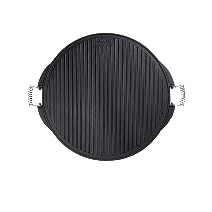 Algon AH112 Plancha de Cocina, 53 cm de diámetro, Inoxidable con Doble Cara,