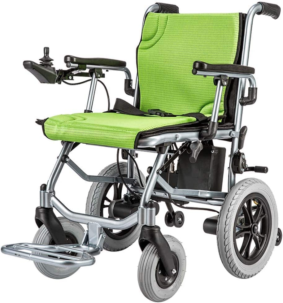 BXZ Wposd Lightweight Lntelligent Folding Carry Adult Electric Wheelchairs,Power Chairs for Disabled with 360° Joystick,Dual Function Heavy Duty Power Wheelchair,Electric Power or Manual Wheelchair