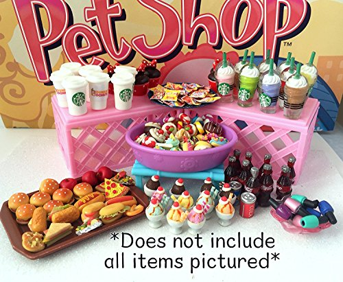 LPS Littlest Pet Shop - 6 PC Lot - Random Accessories Ice Cream Starbucks Food +++ -