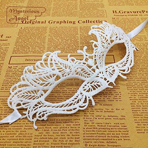Buy white lace venetian masquerade mask
