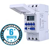 Blackt Electrotech (BT41D) : 250VAC/25Amp Digital LCD Display Programmable Control Counter/Time Timer Relay Switch: DIN Rail Type (Warranty 6 months)