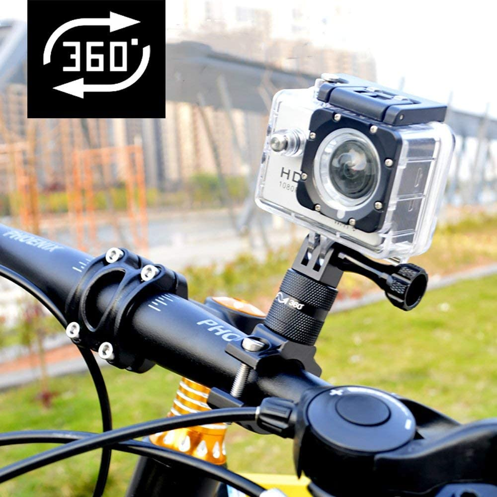 Fits All Go Pro Models GoPro Camera Bike Mount,Handlebar Bike Mount for GoPro Cameras with Metal Screws 3-Way Adjustable Pivot Arm Perfect Seatpost//Clamp for Bicycles /& More