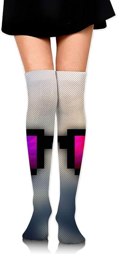 Kjaoi Girl Skirt Socks Uniform Fire Flower Women Tube Socks Compression Socks