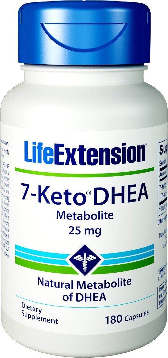 Life Extension 7-Keto Dhea 25 mg, 180 Count