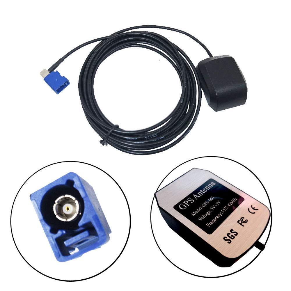 EODA GPS Antenne Navi Fakra Kable f/ür VW MFD 2 RNS 300 310 500 510 RNS 2 MFD 3 RNS-E