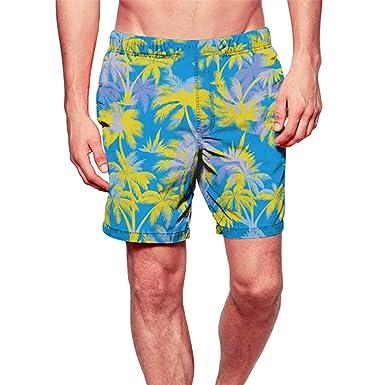 4726b6ea4f Vickyleb Mens Swim Trunks Quick Dry Swimwear Summer Surfing Beach Shorts  with Pocket Drawstring Casual Print Boardshorts | Amazon.com