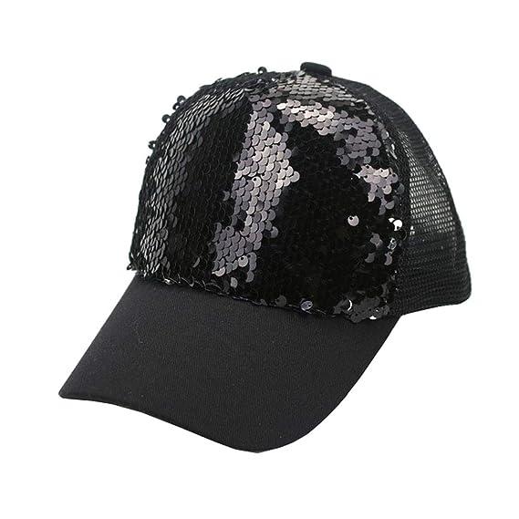 632e2e654 IZUS Kids Baseball-Hat Reversible Rainbow-Flip-Sequin Trucker-Hat ...