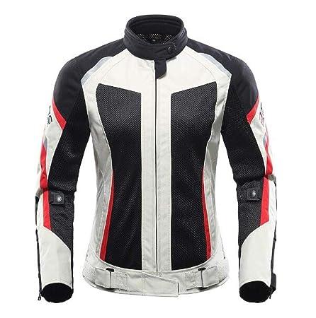 XPF Chaqueta De Moto para Mujer Ropa De Moto Transpirable ...