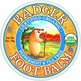 Badger Foot Balm 2oz Tin Peppermint & Tea Tree