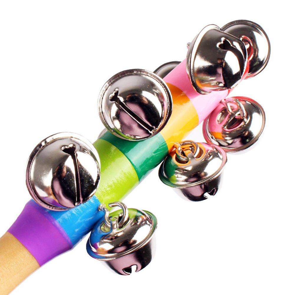 Demarkt Hand Glocken Musik Instrument f/ür Kleinkinder und Babys 18cm lang