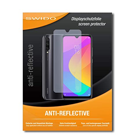 SWIDO Protector de Pantalla para Xiaomi Mi A3 [Anti-Reflex], [2 ...