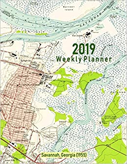 Amazon.com: 2019 Weekly Planner: Savannah, Georgia (1955 ... on map to phoenix arizona, map to south carolina, map to tucson arizona, map to topeka kansas, map to san diego california, map to butte montana, map to birmingham alabama, map to north carolina, map to florida, map to springfield missouri,