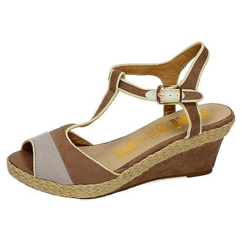 XTI 27699 Sandalia DE Esparto Mujer Alpargatas Taupe 40: Amazon.es: Zapatos y complementos