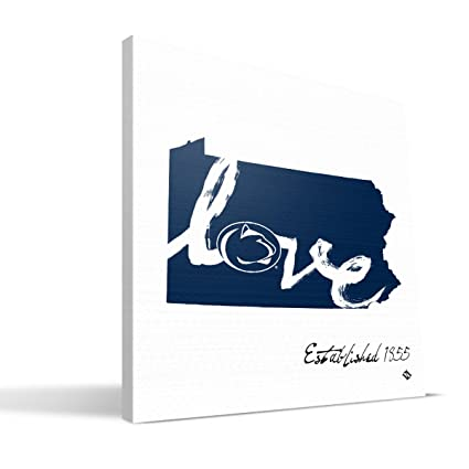 Amazoncom Penn State Nittany Lions 12x12 Established Love Canvas