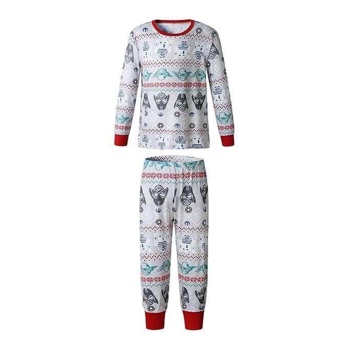 418862e6d Yuanu Familia Matching Pijama Conjunto Hombre Mujer Niños Bebé Navidad  Patrón Impresión Ropa de Dormir Padre-Niño Loungewear Sets  Amazon.es  Ropa  y ...
