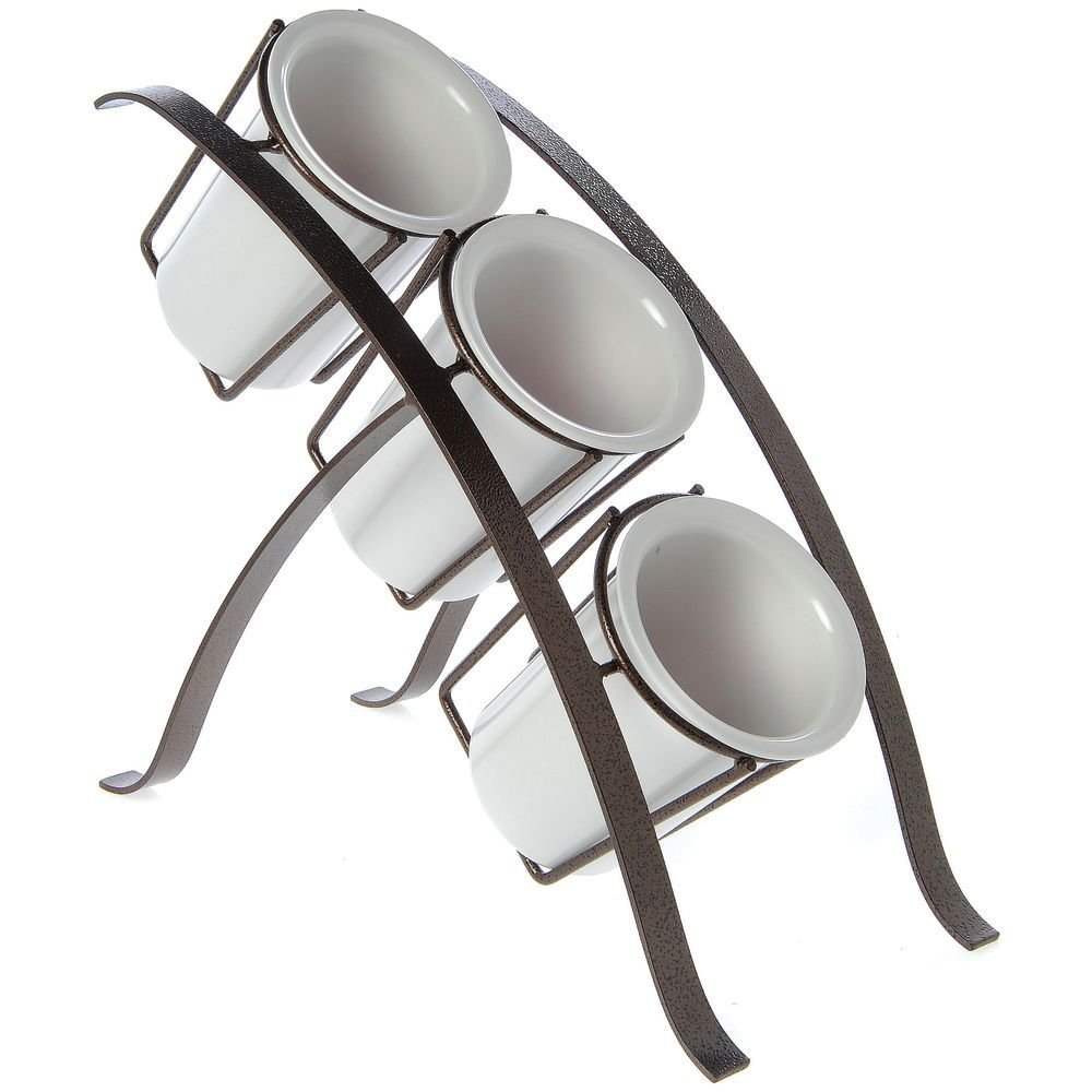 Expressly HUBERT X-Pressly Bamboo? Espresso 3 Tier Condiment and Flatware Holder -16''L x 7''W x 13 1/2''H by Hubert