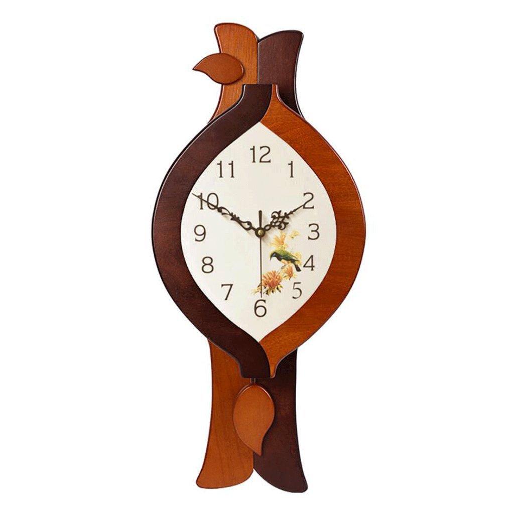 GAOLILI リビングルームモダンウォールクロック家庭用クォーツ時計ミュートソリッドウッドクロック ( 色 : A ) B07C3VF2LJ A A