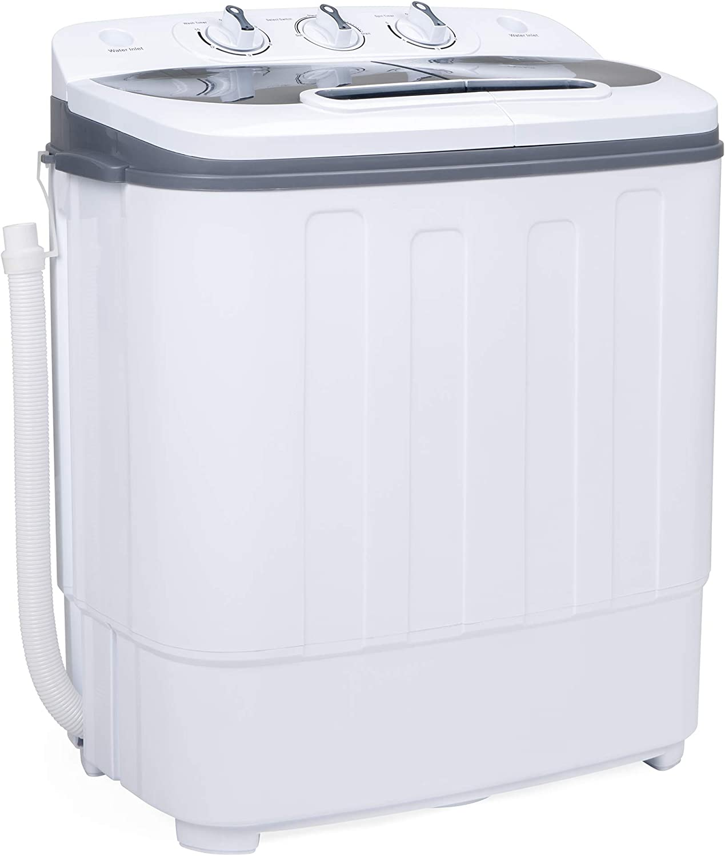 Best Choice Products Portable Mini Twin Tub Compact Washing Machine