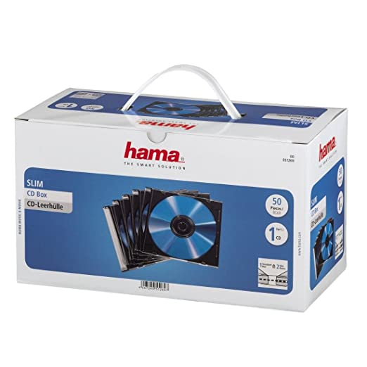 161 opinioni per HAMA 51269 Custodia CD Slim, 50 Pezzi, Trasparente