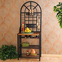 Wine Rack Storage Unit with Elegant Craftsmanship for the Perfect Kitchen Shelf Area