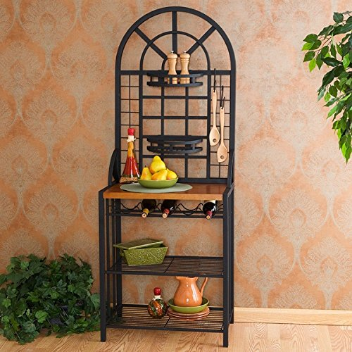 Two Adjustable Basket Shelves Harper Blvd Dome Baker's Rack by Harper Blvd