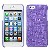 MYBAT IPHONE5HPCBKPRLDM702WP Premium Pearl Diamante Case for iPhone 5/iPhone 5S, 1-Pack, Retail Packaging, Baby Purple