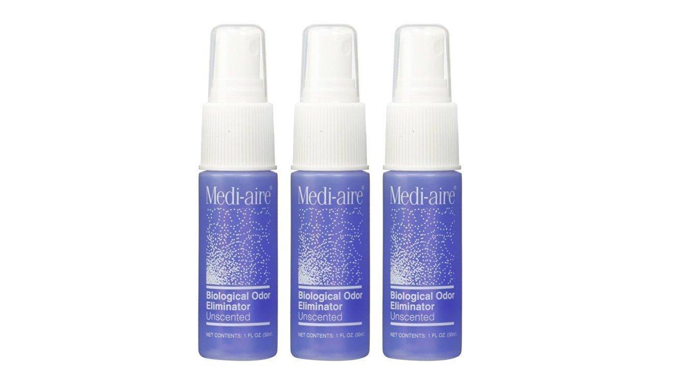 Medi-Aire Biological Odor Eliminator Unscented 1 oz (Pack of 3)