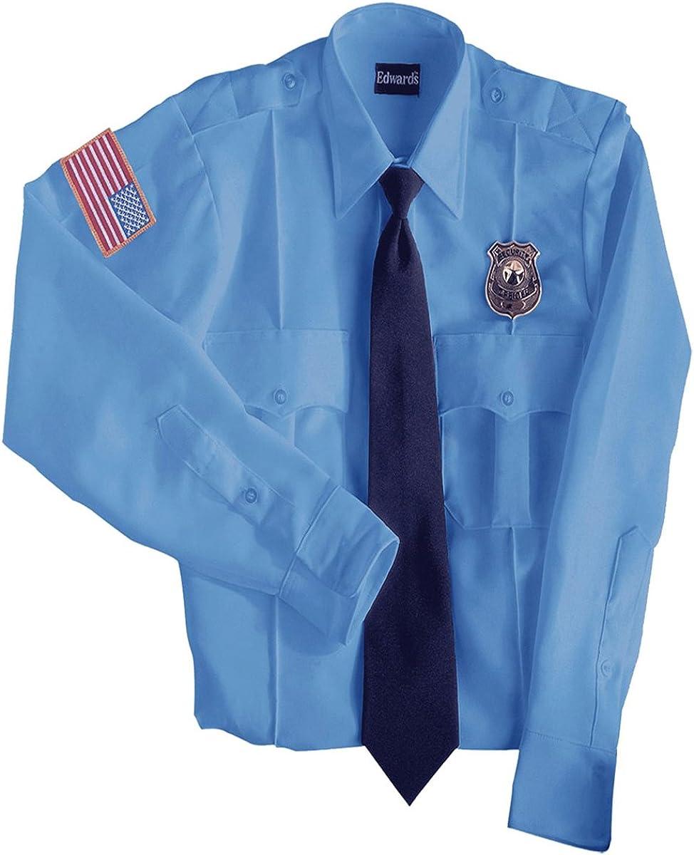 Edwards Garment Permanent Collar Stays Security Shirt/_BLUE/_Medium 33