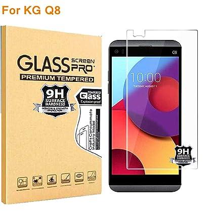 RUIST Protector de Pantalla LG Q8,Ultrafino 9H Dureza [Alta Sensible] Vidrio Templado