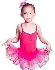 Imixcity Baile de Ballet Jersey Camiseta de Niña Maillot Traje de Ballet Leotardo Princess Girls Vestido de Pantera Falda de Tul Traje de Carnaval (Edad: 3-10 Años)