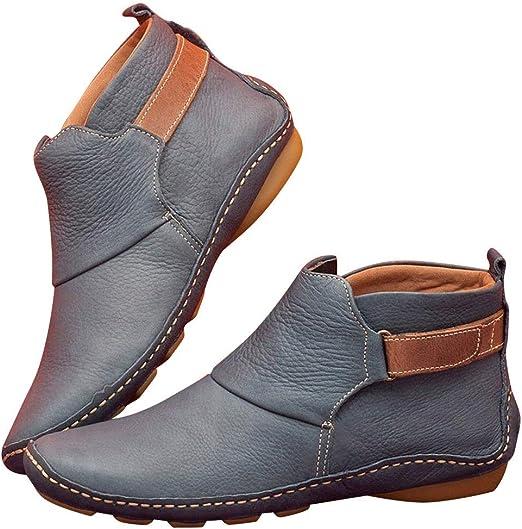 Aslion Leather Ankle Boots Autumn
